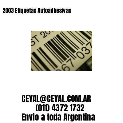 2003 Etiquetas Autoadhesivas