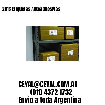 2016 Etiquetas Autoadhesivas