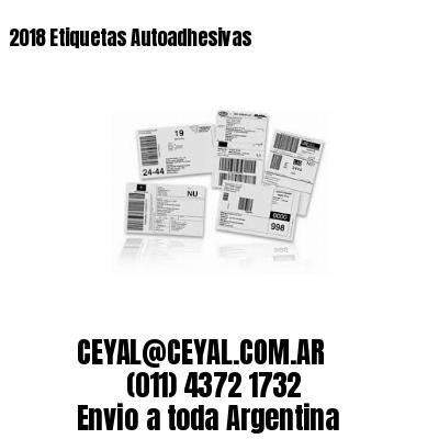 2018 Etiquetas Autoadhesivas
