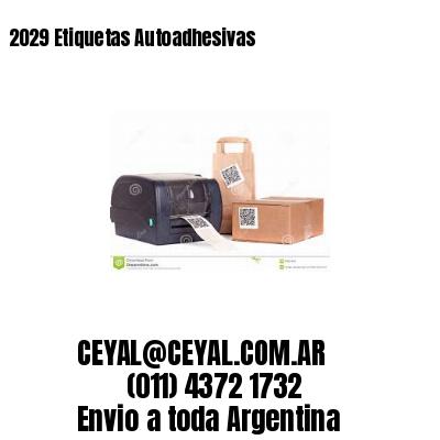 2029 Etiquetas Autoadhesivas