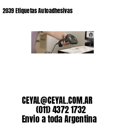 2039 Etiquetas Autoadhesivas
