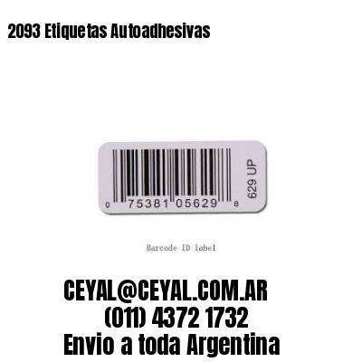 2093 Etiquetas Autoadhesivas