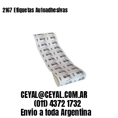 2167 Etiquetas Autoadhesivas