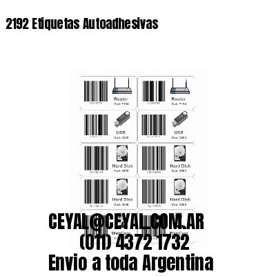 2192 Etiquetas Autoadhesivas