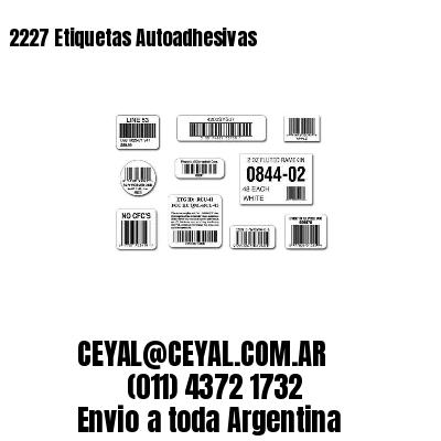 2227 Etiquetas Autoadhesivas