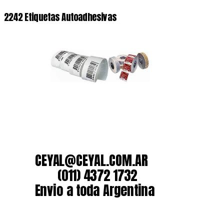 2242 Etiquetas Autoadhesivas