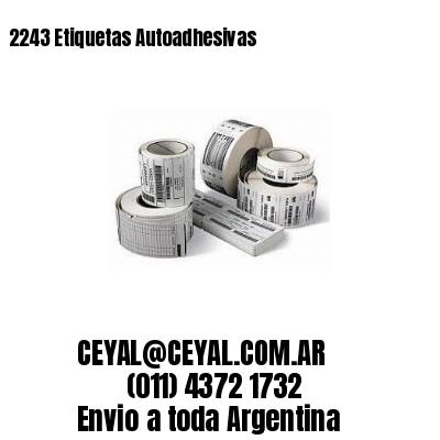 2243 Etiquetas Autoadhesivas