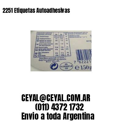 2251 Etiquetas Autoadhesivas