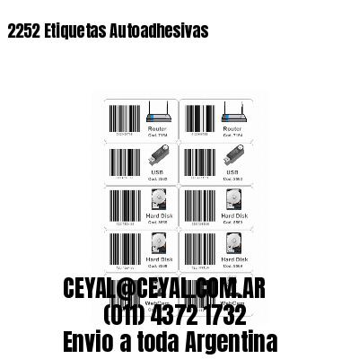 2252 Etiquetas Autoadhesivas