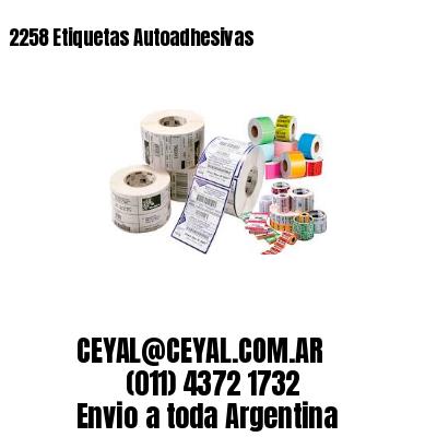 2258 Etiquetas Autoadhesivas