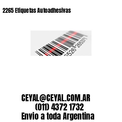2265 Etiquetas Autoadhesivas