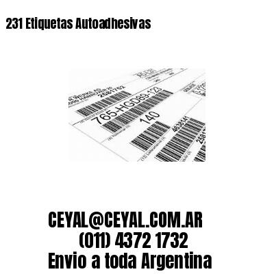 231 Etiquetas Autoadhesivas