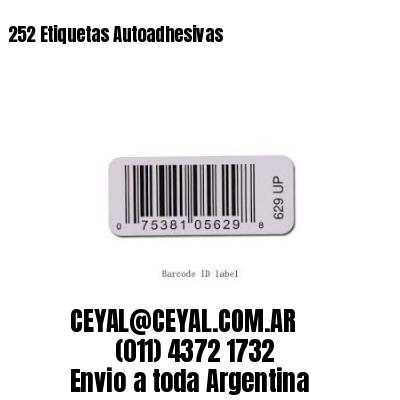 252 Etiquetas Autoadhesivas