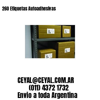 260 Etiquetas Autoadhesivas