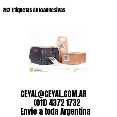 262 Etiquetas Autoadhesivas