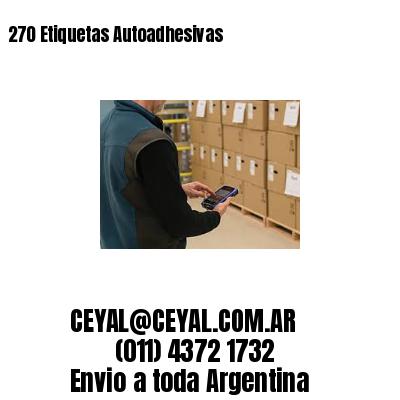 270 Etiquetas Autoadhesivas