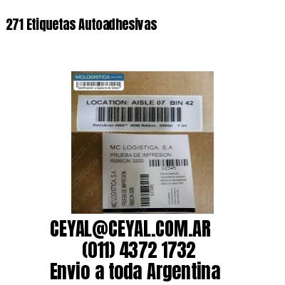 271 Etiquetas Autoadhesivas