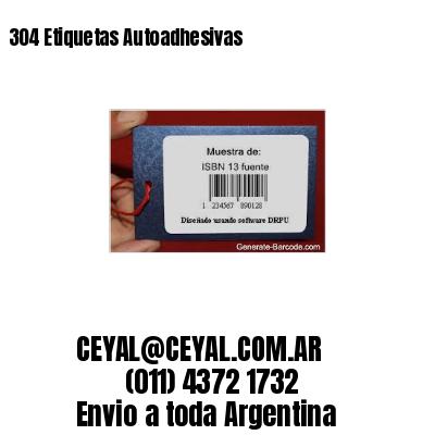 304 Etiquetas Autoadhesivas