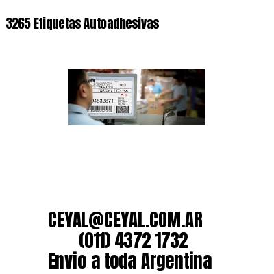3265 Etiquetas Autoadhesivas