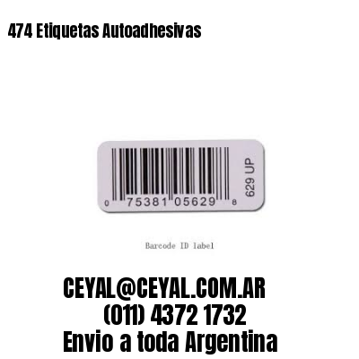474 Etiquetas Autoadhesivas