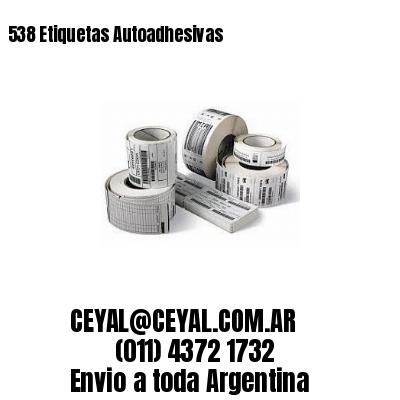 538 Etiquetas Autoadhesivas