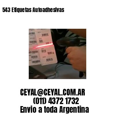 543 Etiquetas Autoadhesivas