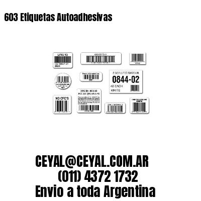 603 Etiquetas Autoadhesivas