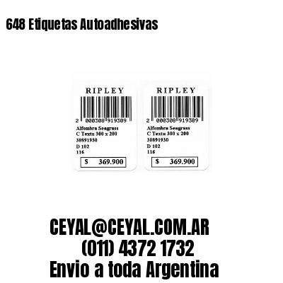 648 Etiquetas Autoadhesivas