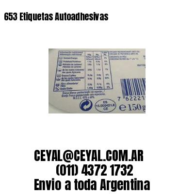 653 Etiquetas Autoadhesivas