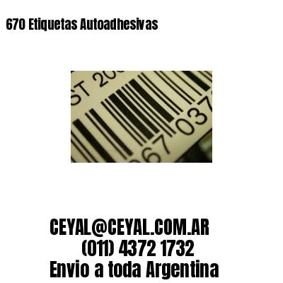 670 Etiquetas Autoadhesivas