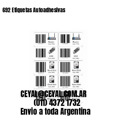 692 Etiquetas Autoadhesivas