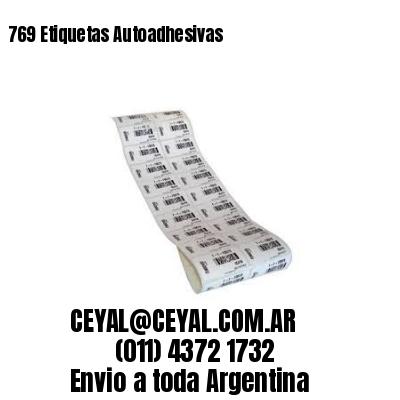 769 Etiquetas Autoadhesivas