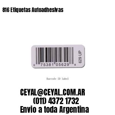 816 Etiquetas Autoadhesivas
