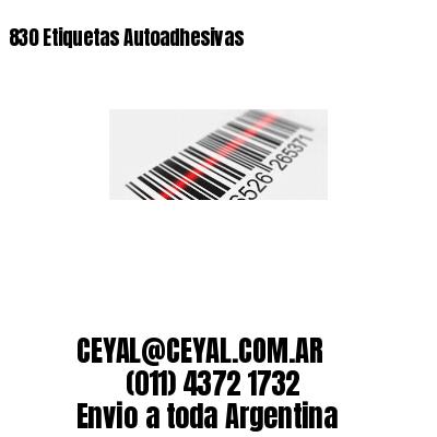 830 Etiquetas Autoadhesivas