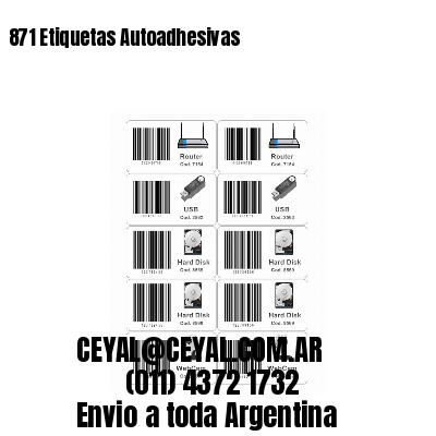 871 Etiquetas Autoadhesivas