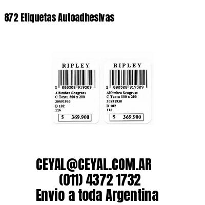 872 Etiquetas Autoadhesivas