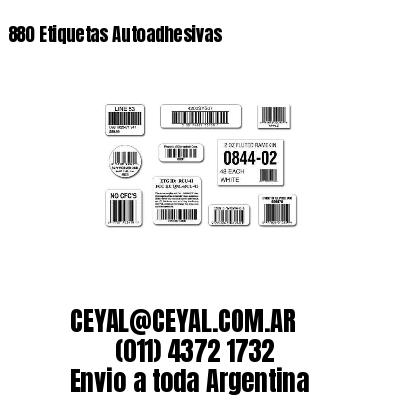 880 Etiquetas Autoadhesivas