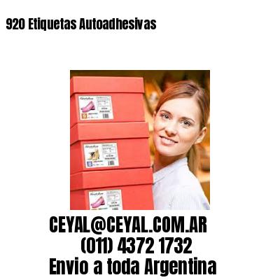 920 Etiquetas Autoadhesivas