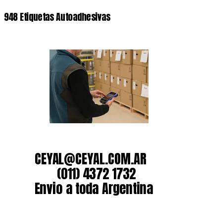 948 Etiquetas Autoadhesivas