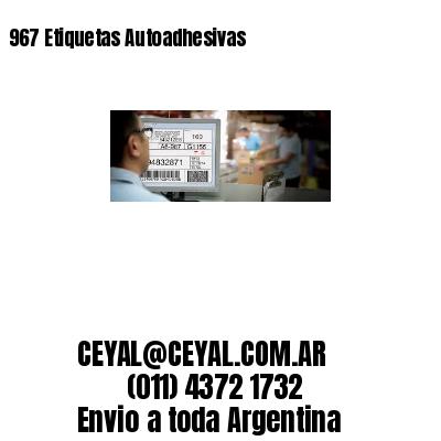 967 Etiquetas Autoadhesivas