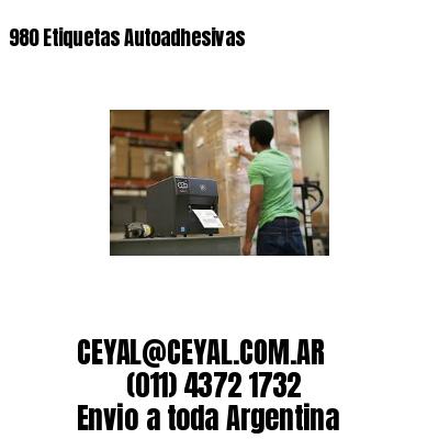 980 Etiquetas Autoadhesivas
