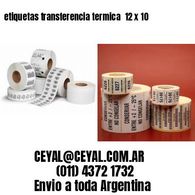 etiquetas transferencia termica  12 x 10