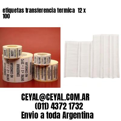 etiquetas transferencia termica  12 x 100