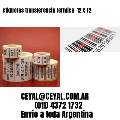 etiquetas transferencia termica  12 x 12