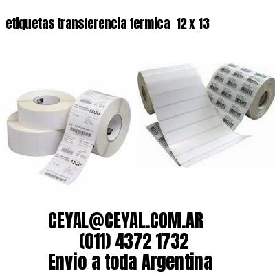 etiquetas transferencia termica  12 x 13