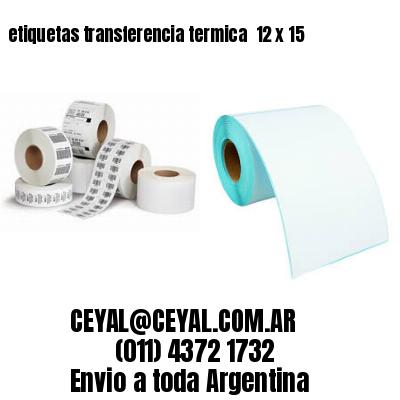 etiquetas transferencia termica  12 x 15
