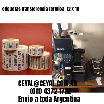 etiquetas transferencia termica  12 x 16