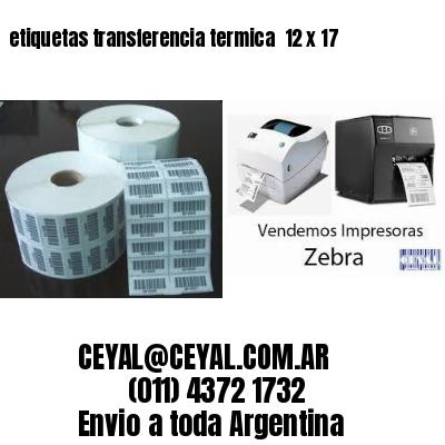 etiquetas transferencia termica  12 x 17