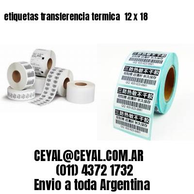 etiquetas transferencia termica  12 x 18