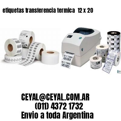 etiquetas transferencia termica  12 x 20